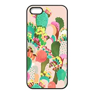 iPhone 5,5S Case, Abstract Watercolor Hard Case For iPhone 5,5S(Black) Yearinspace054743
