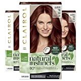 Clairol Natural Instincts, 6RR Light Red, Caribbean Mahogany, 3 Count