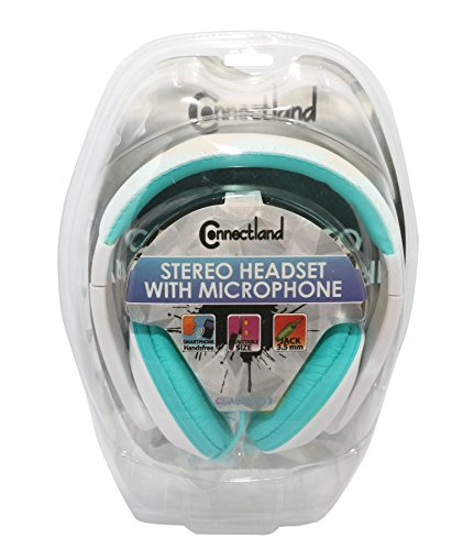 Connectland Stereo Wired Headphone & Microphone Lightweight 40mm Speaker Music Gaming Stylish Teal CL-AUD63035 by Connectland (Image #6)