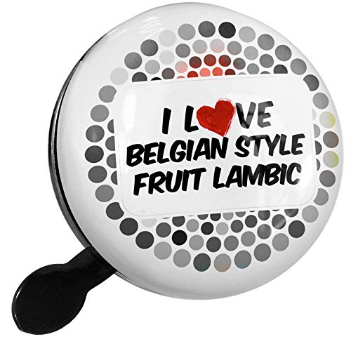 NEONBLOND Bike Bell I Love Belgian Style Fruit Lambic Beer Scooter or Bicycle Horn