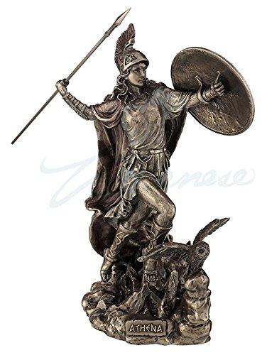 Athena Greek Goddess Throwing Javelin Statue Sculpture Minerva -  Unicorn Studios, WU76978A4