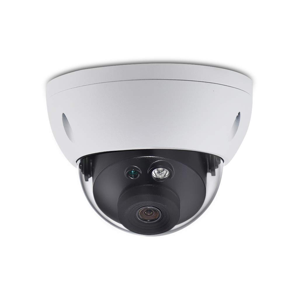 6MP Security Dome IP Camera, IPC-HDBW4631R-S 2.8mm Outdoor IR 30M Night Vision with Built-in SD Solt,Super HD 1080p,IP67weatherproof,IK10vandal,Mini CCTV Surveillance