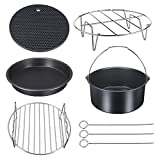 Air Fryer Accessories Universal for Power Gowise Phillips Cozyna and More, Set of 5 Bakeware Kit Fit All 3.7, 5.3, 5.8 QT, Diameter 7 Inch