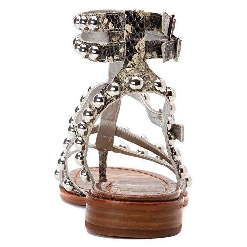 Sam Edelman Eavan gladiador sandalias de la mujer Beige