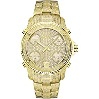 JBW Mens JB-6213-A Jet Setter Gold Five Time Zone Diamond Watch