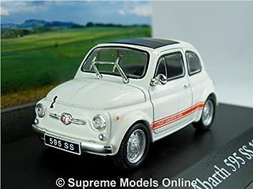Fiat 500 Abarth 595 Ss Car Model 1 43 Size 1957 Ixo Atlas White