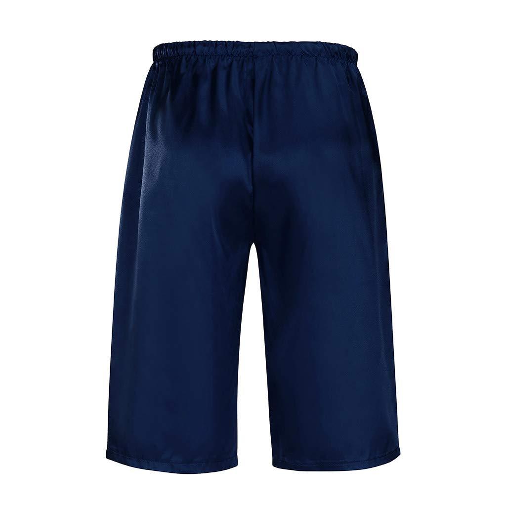 Shorts Pantalon Homme Mode D/'/éT/é Casual Solide Cordon De Serrage Court Pyjama Pantalon Pantalons pour Hommes