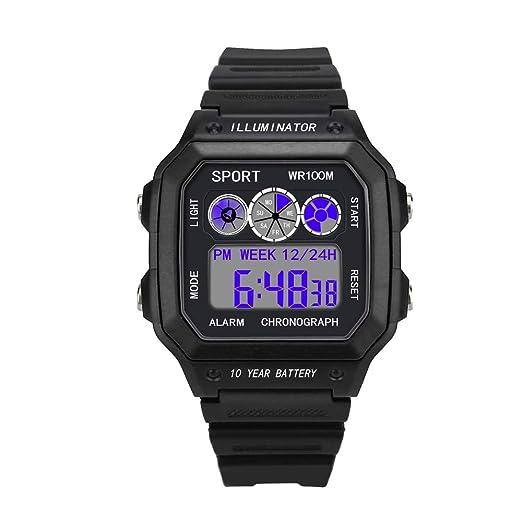 Moda Reloj Unisex Reloj Hombre Relojes Inteligente LED Digital con Banda de Silicona Smartwatch Impermeable Reloj Digital Deportivo Relojes de Pulsera ...