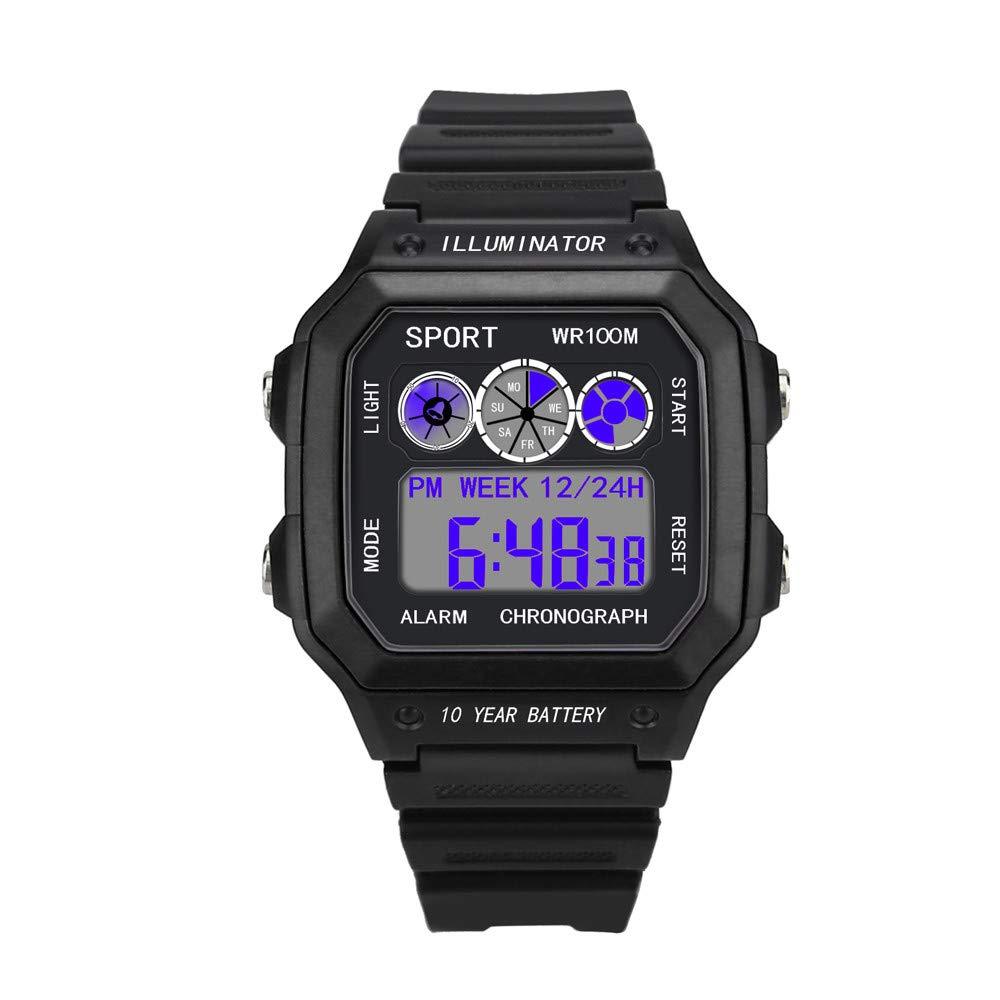 Waterproof Wrist Watch,Alalaso Luxury Men Analog Digital Military Army Sport LED Watch (Black)