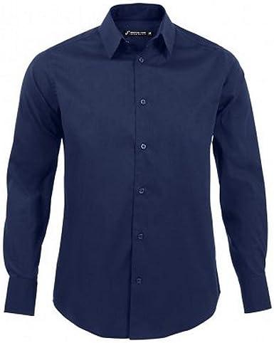 SOLS - Camisa Entallada de Manga Larga para Trabajar Modelo Brighton Hombre Caballero - Trabajo/Fiesta/Verano