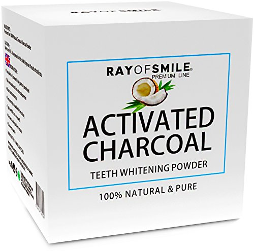 Activated Charcoal Powder 100% Natural and Pure Teeth Whitening by RAY OF SMILE
