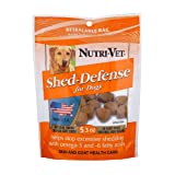 Nutri-Vet Shed Defense Natural Smoke Flavored Soft Chews with Omega 3 and 6 Fatty Acids, 5.3 Ounce Bag, My Pet Supplies