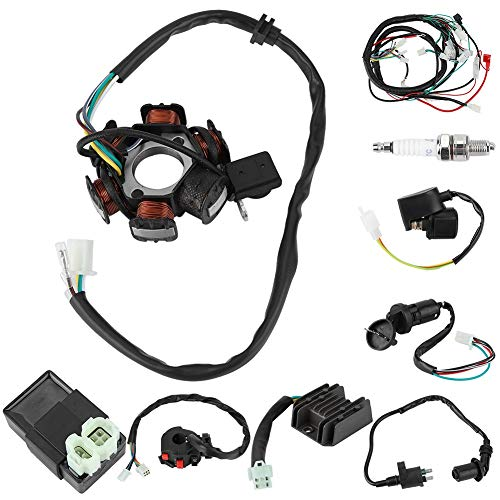 Electric Wiring Harness Kit, Electric Wiring Harness Kit Relay Rectifier Magneto Stator for 125cc 150cc:
