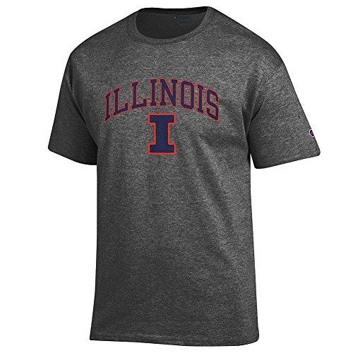 Illini Fighting Illinois University (Elite Fan Shop Illinois Fighting Illini Tshirt Varsity Charcoal - XXL)