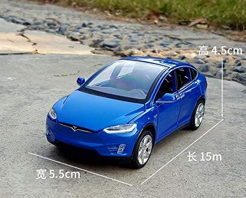 GUANGYING 1:32 Tesla SUV in Lega Modello di Auto in Metallo Modello di Auto Collezione di Auto Ornamenti Suono E Luce Tirare Indietro Auto Giocattolo