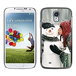 YOYO Slim PC / Aluminium Case Cover Armor Shell Portection //Christmas Holiday Sexy Hot Girl Kissing Snowman 1027 //Samsung Galaxy S4