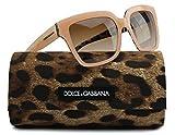 Dolce & Gabbana DG4234 Sunglasses Shiny Beige/Leo w/Brown Gradient (2886/13) DG 4234 288613 57mm Authentic