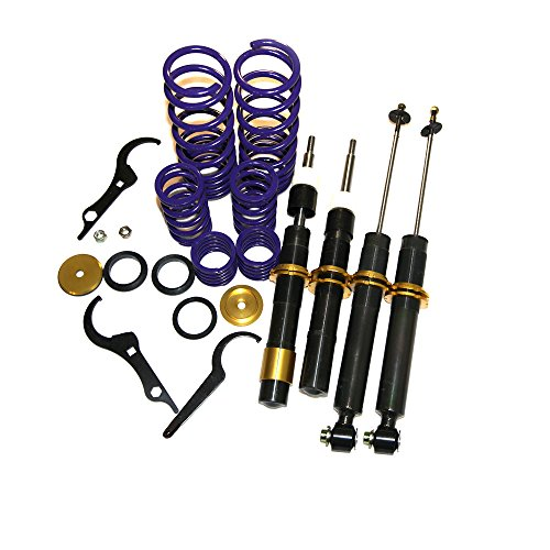 Coilover Set Adjustable Suspension Lowering Shock Kit For 1997-2003 BMW E39 5-SERIES SEDAN 525i 528i 530i 540i ()