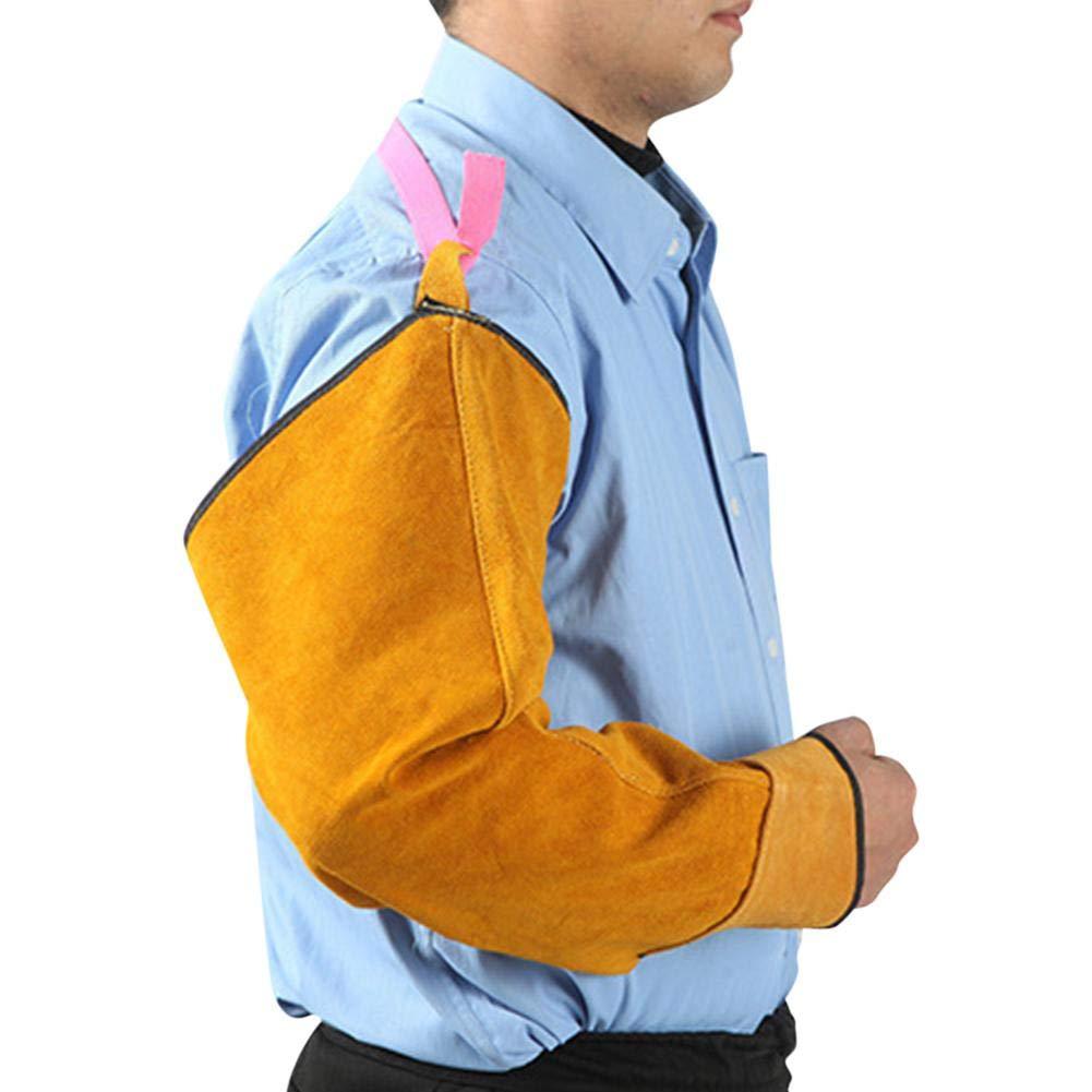 Elastic Cuff Safety Work Funkenbest/ändiger Armschutz und flammwidriger Armschutz Gardening Sleeve Schwei/ßhandschuhe aus Leder Rindsleder /& Antihaftbeschichtung Hitze