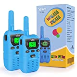 Walkie Talkies for Kids, 2 Way Radio Walkie Talkies 3 Miles (Up to 5Miles) Handheld Mini Walkie Talkies for Kids, Toys for 4-Year Old Boys and Girls (1 Pair)