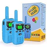 Sokos Walkie Talkies for Kids, 2 Way Radio Walkie Talkies 3 Miles (Up to 5Miles) Handheld Mini Walkie Talkies for Kids, Toys for 4-Year Old Boys and Girls (1 Pair) (Blue)