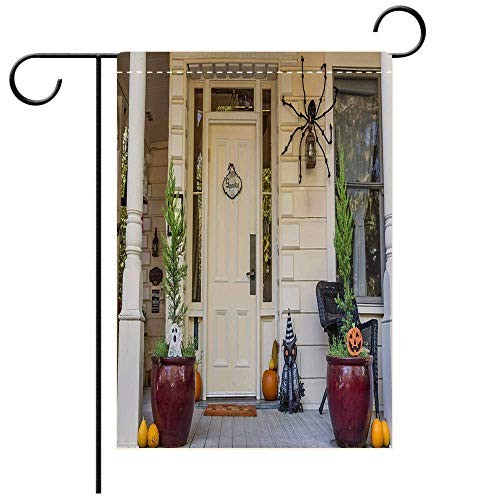 Garden Flag Double-Sided Printing, Double Sided American Porch with Halloween Decoration in Nevada City Best for Party Yard and Home Outdoor Decor