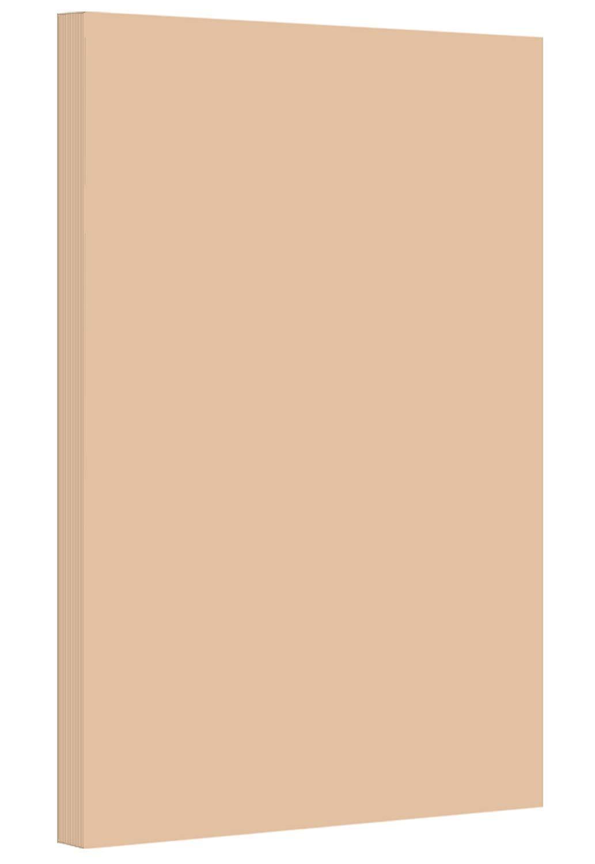 Tan - Pastel Color Paper 20lb. Size 8.5 X 14 Legal/Menu Size - 500 Per Pack by S Superfine Printing