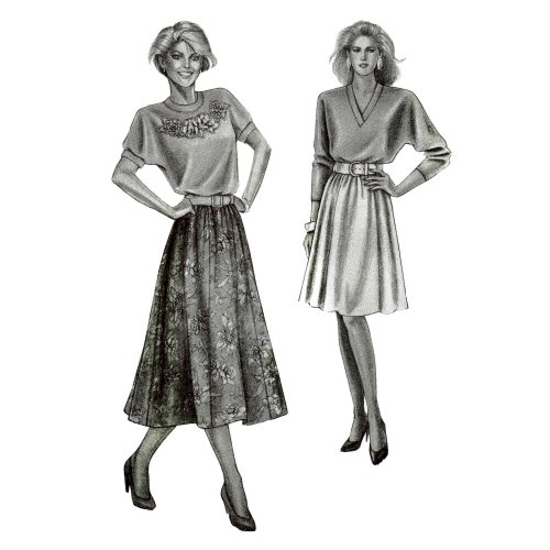 Stretch & Sew 481 Sewing Pattern 6-Gore Skirts Hip 32 - 48
