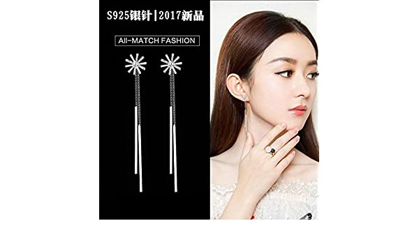Amazon.com: usongs fashion earrings wind elegant long section women girls fashion earrings simple geometric earrings earrings ear hook: Home & Kitchen