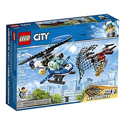 LEGO City Sky Police Drone Chase 60207 Building Kit (192 Pieces): Toys & Games