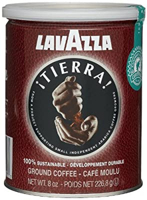 Lavazza Tierra! 100% Sustainable Ground Coffee, 8-Ounce Cans (Pack of 2)