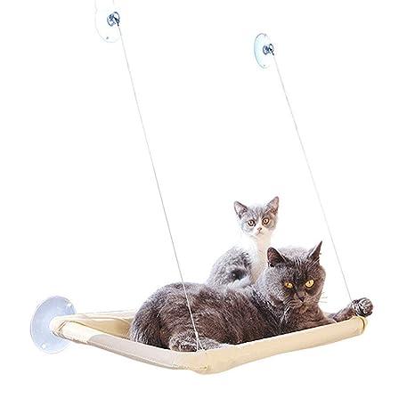 KIKIRon-Pet Lomire Hamaca para Ventana de Gato Cama para ...