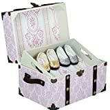 The Queens Treasure AGCT-B Doll Steamer Trunk for 18 Inch American Girl Dolls Pretty in Pink