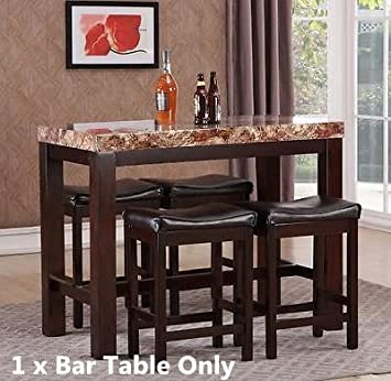Amazon Com Gtu Forniture Elegant Faux Marble High Top Kitchen