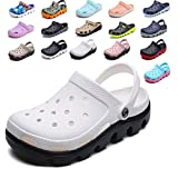 Apodidae New Unisex Hollow Breathable Hole Shoes Garden Shoes Mules Clog Sandals Black White 38