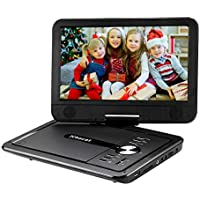 Xbocat 10.5 Swivel Screen Portable DVD Player with Rechargeable Battery Support 64GB USB Port and TF Card