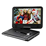 """Portable DVD Player with 10.5"""" Swivel Screen, Xbocat Personal DVD Player with Rechargeable Battery for Car, Support 64GB USB Port and TF Card"""
