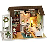 Retro style happy times DIY House Handmade Craft Assembled Model House mini furniture DOLLhouse kids birthday gifts toy ZY