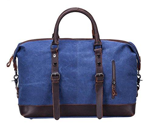 Oversized Leather Canvas Casual Travel Tote Luggage Satchel Hobo Duffel Handbag