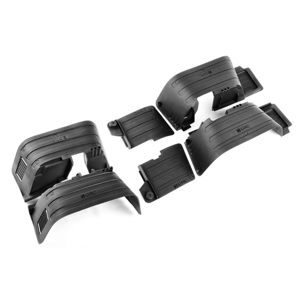 Taimot Front Rear Mud Flaps Fender for 1/10 RC Crawler Axial SCX10 II 90046 90047 Plastic with Front Rear Inner Fender Wells Mudguard Black