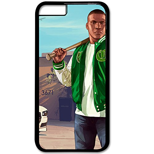 Price comparison product image GeekFun - Grand Theft Auto V GTA 5 PS3 Xbox 360 PS4 Xbox One Game Phone Case Apple iPhone 6 / 6S TPU Cover Rubber (Franklin With Baseball Bat)