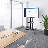 1home Rolling TV Cart Mobile TV Stand with Laptop