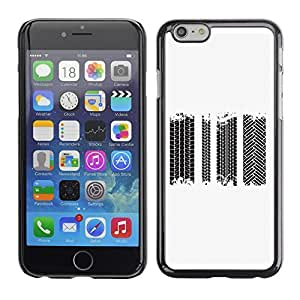 Phone PC Hard Case Cover 700 Tire Tracks Vector Set Apple Iphone 6 PLUS 5.5