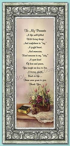 To My Parents, Parents Gifts, Anniversary Gift For Parents, 6x12 7726S (Family Devotional Videos)