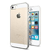 iPhone SE Case, Spigen Liquid Air Armor iPhone SE Case with Durable Flex and Easy Grip Design for iPhone SE / 5S / 5 - Glitter Crystal Quartz