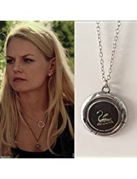 Once Upon a Time Story Emma Swan Talisman Charms Pendant Chain Enamel Necklace