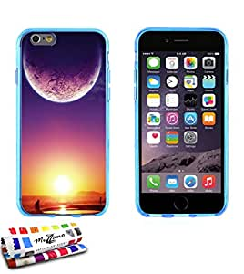 Carcasa Flexible Ultra-Slim APPLE IPHONE 6 PLUS de exclusivo motivo [Crepusculo] [Azul] de MUZZANO  + ESTILETE y PAÑO MUZZANO REGALADOS - La Protección Antigolpes ULTIMA, ELEGANTE Y DURADERA para su APPLE IPHONE 6 PLUS