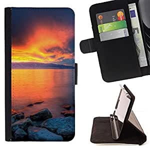 DEVIL CASE - FOR Samsung Galaxy Note 3 III - Sunset Beautiful Nature 36 - Style PU Leather Case Wallet Flip Stand Flap Closure Cover