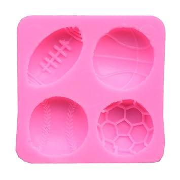 Queta Molde de silicona para repostería, diseño de pelota de tenis, para repostería: Amazon.es: Hogar