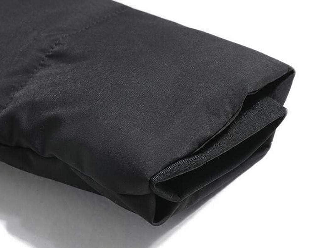YYG Mens Thicken Winter Zip Up Mid Length Hoodie Down Quilted Coat Jacket Overcoat